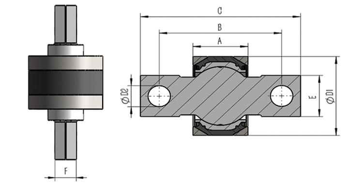 端盖结构关节轴承球销